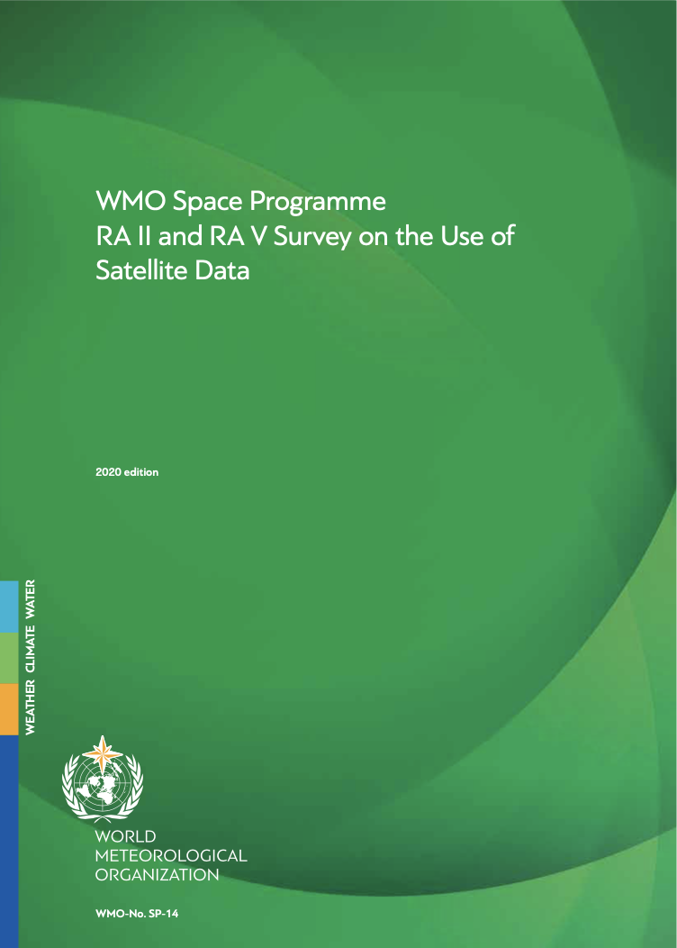 """Coverpage of publication """"RA II and RA V Survey on the Use of Satellite Data (SP-14)"""""""