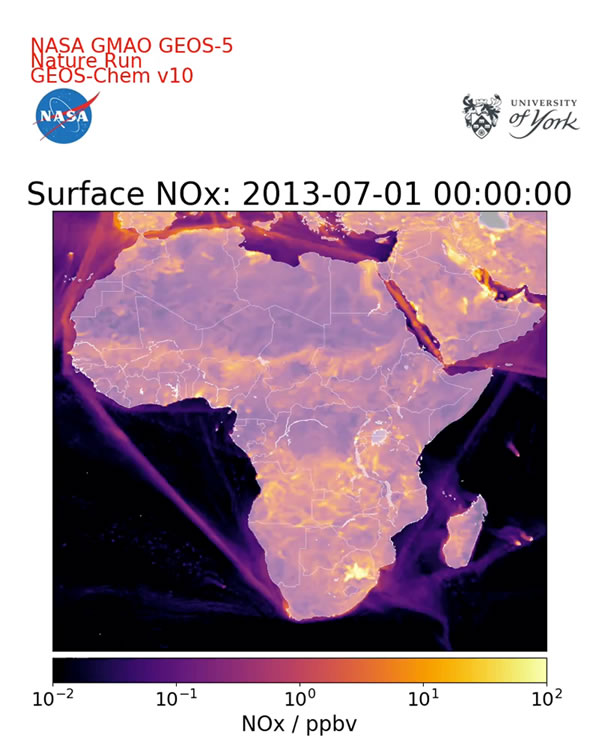 Surface NOx Africa