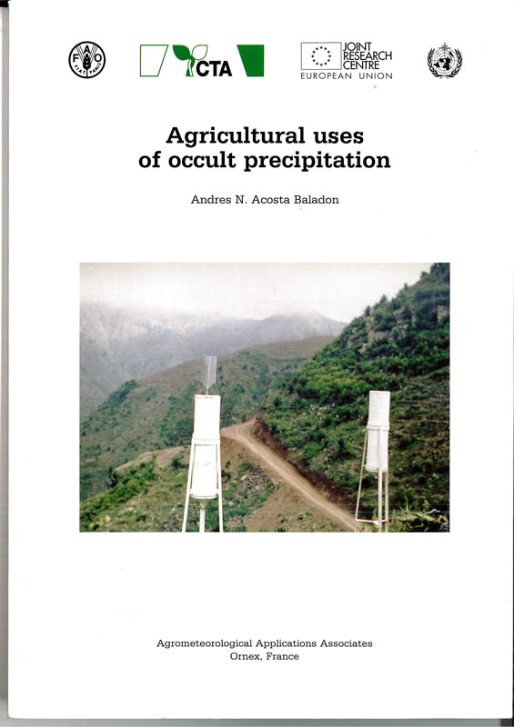 Agricultural uses of occult precipitation cover