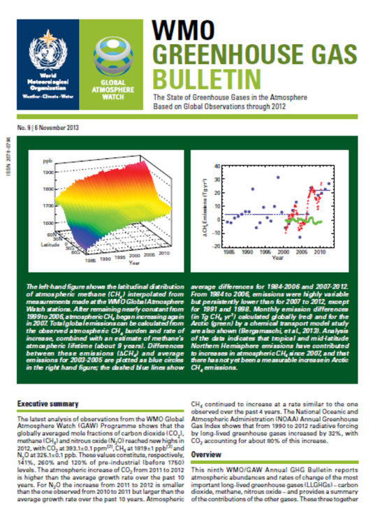 front page GHG Bulletin 9