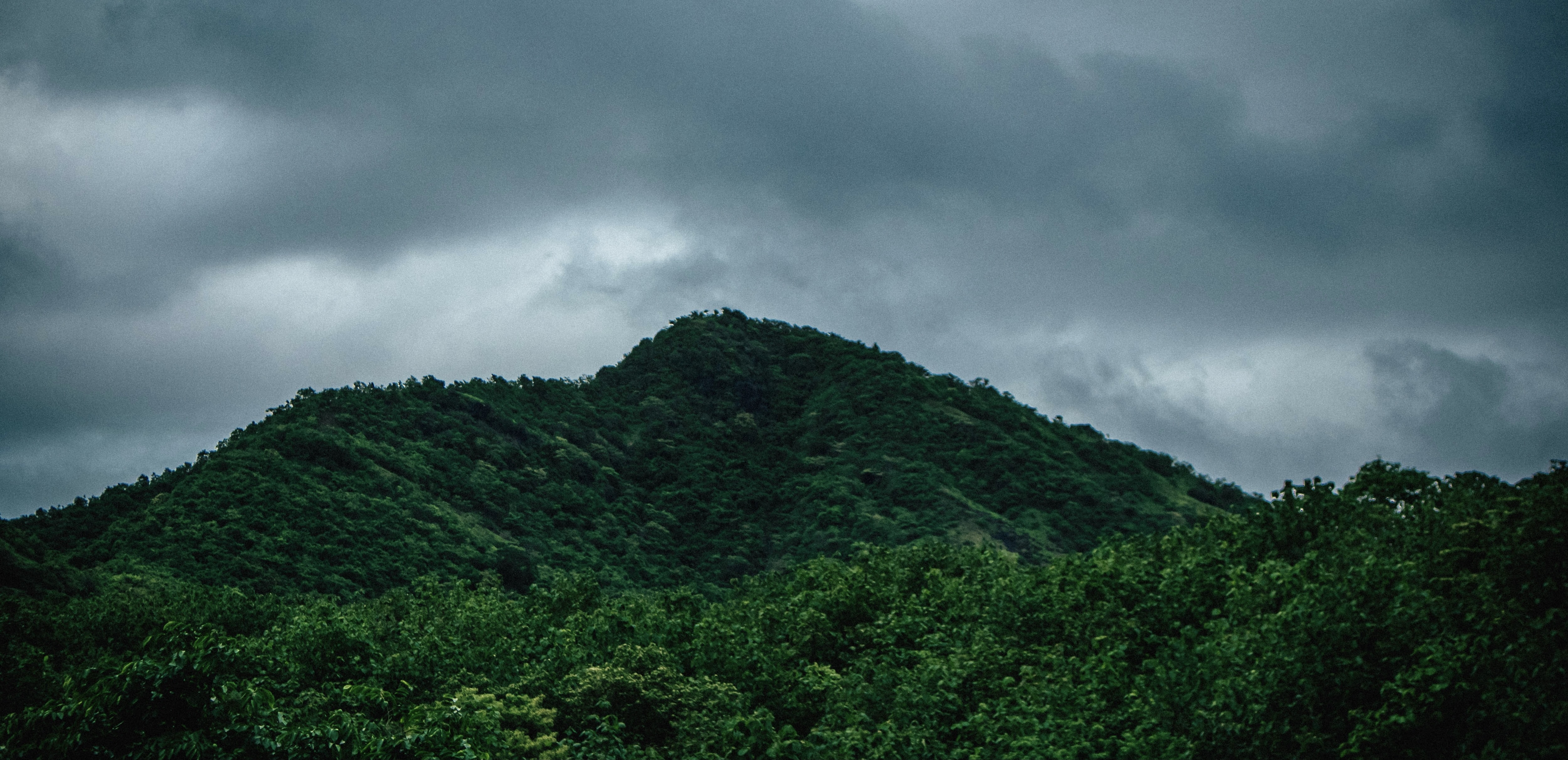 Mountain during monsoon