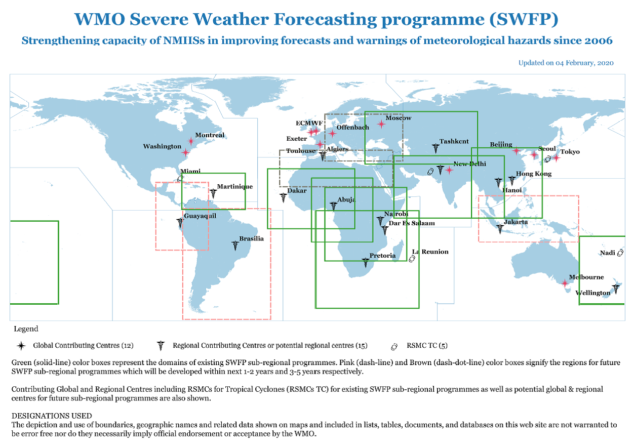 SWFP regional sub-programmes