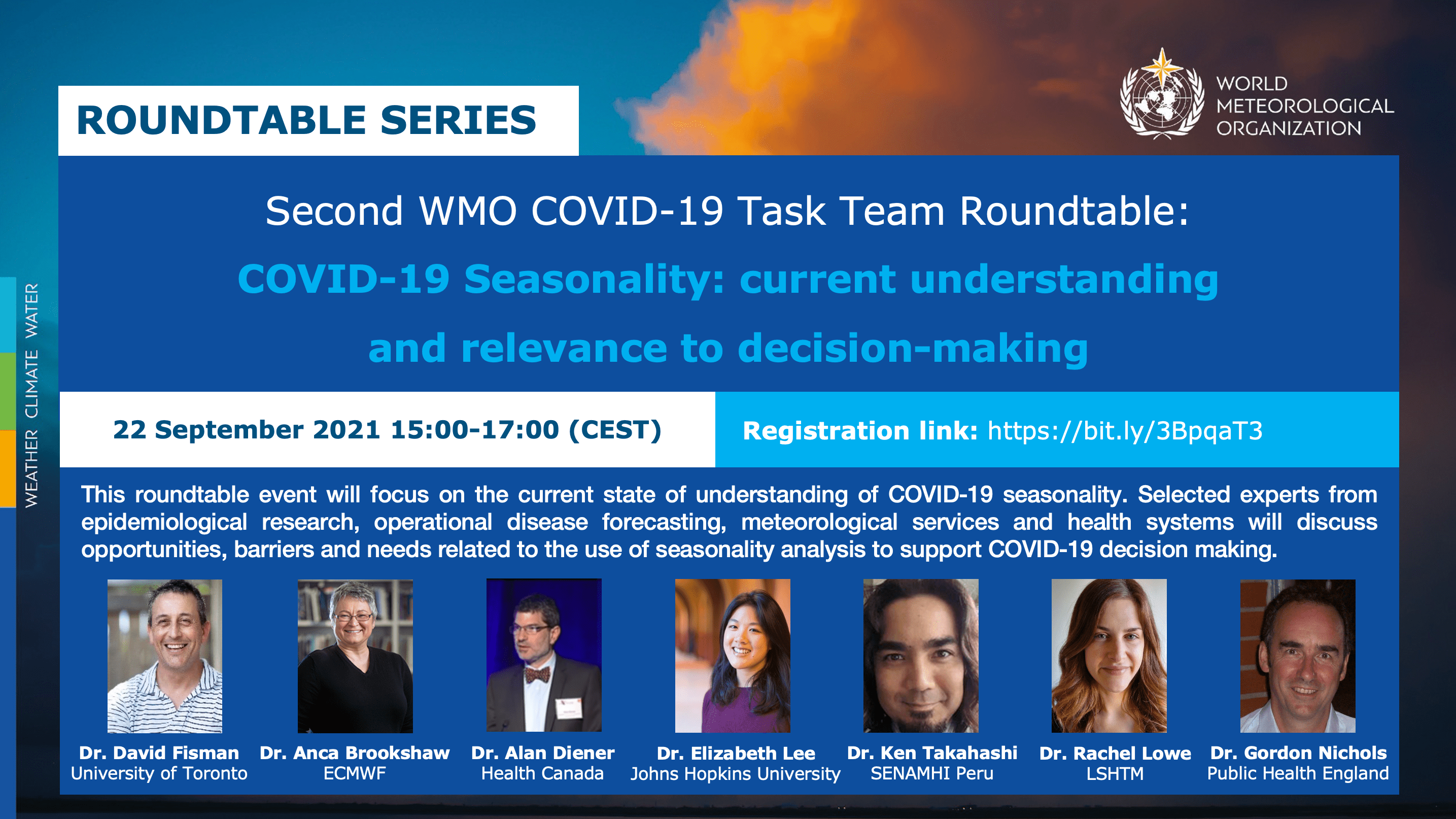 Second COVID-19 Task Team Roundtable - Flyer