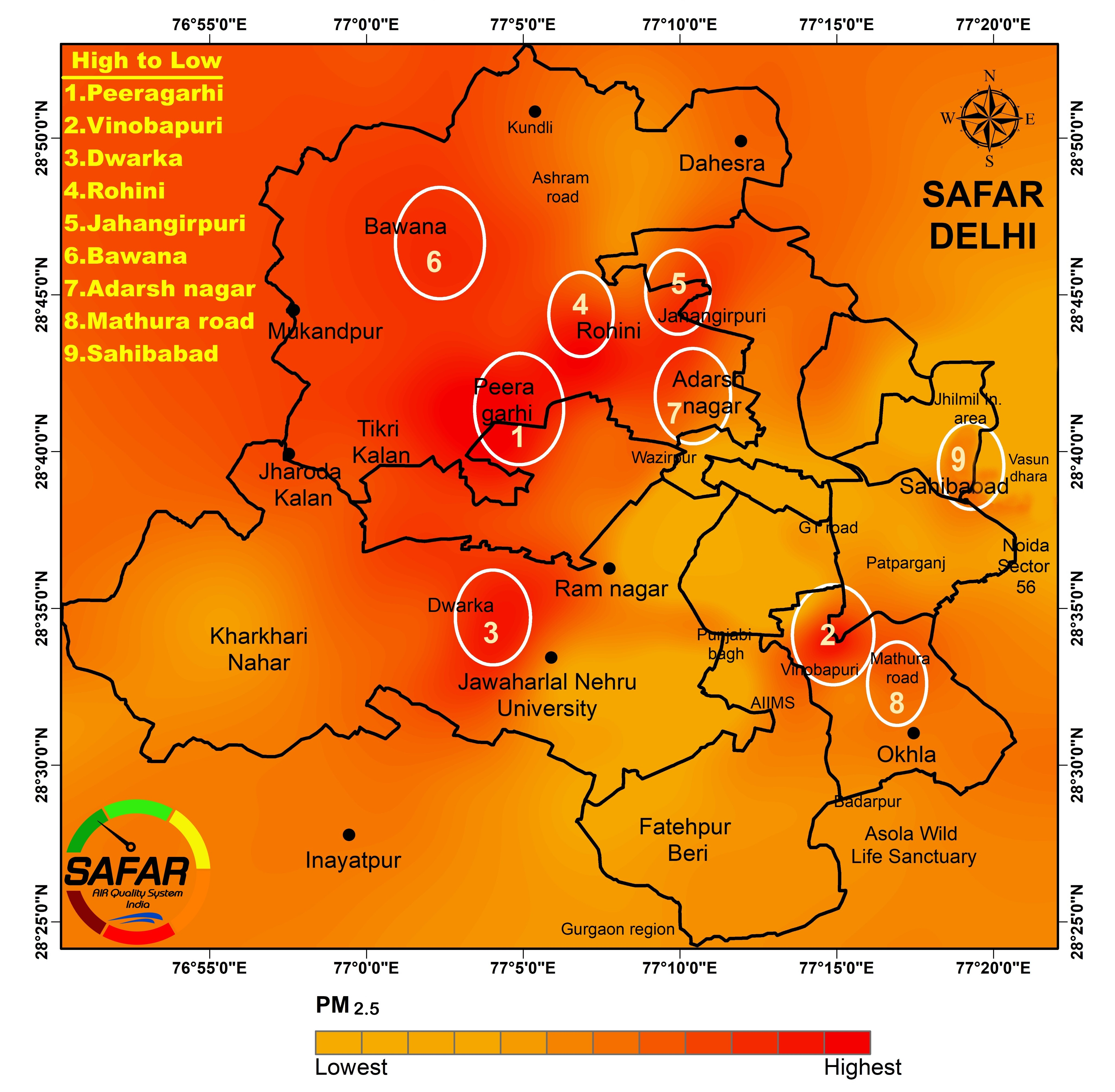 System of Air Quality forecasting and Research (SAFAR)--India