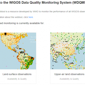 Landing page of WDQMS Webtool