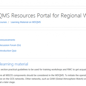 WDQMS Resources Portal page