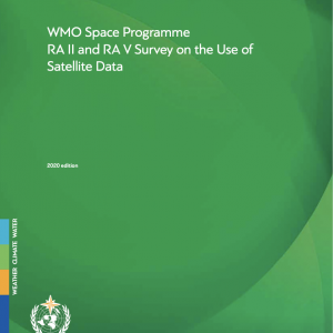 "Coverpage of publication ""RA II and RA V Survey on the Use of Satellite Data (SP-14)"""