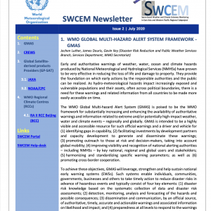 WMO SWCEM-EAWP-Newsletter_Issue 2_July_2020_title
