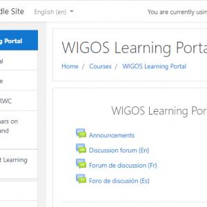 WIGOS Learning Portal